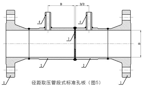 孔板流量計徑距取壓管段式標準孔板