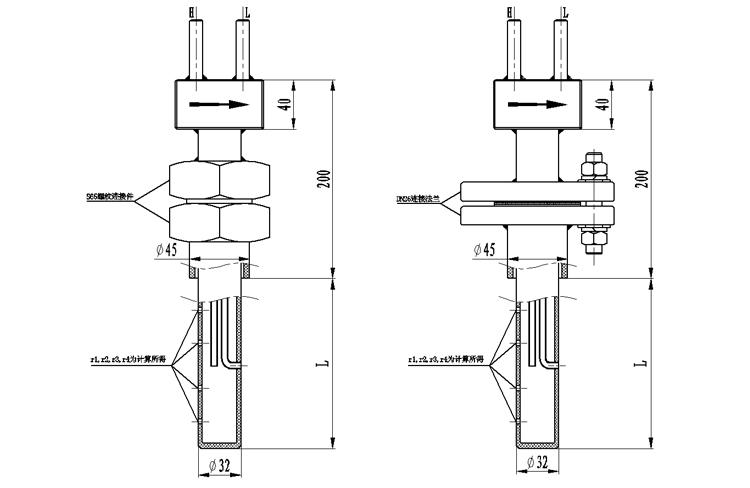 笛型勻速管產品外形尺寸